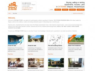 Realestate website for Immo@Catembe